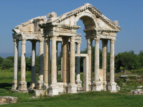 The Tetrapylon or gateway to the Temple of Aphrodite at Aphrodisias