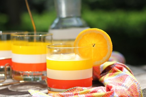 orange and passionfruit wine cooler