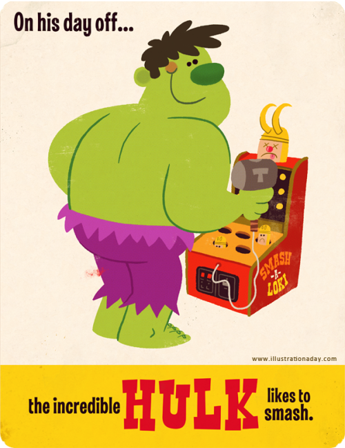 Via Matt Kaufenberg: Hulk's Day Off.
