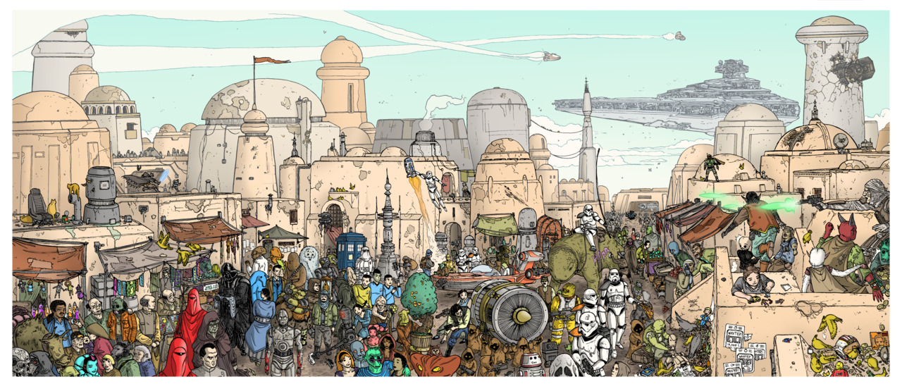Un día normal en Tatooine —> http://ulisesfarinas.files.wordpress.com/2012/02/strollontatooinelowres.jpg