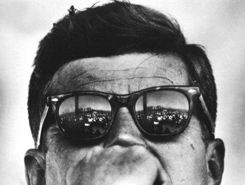 JFK looking sick in his Ray Bans!