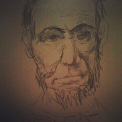 #AbeLincoln my drawwing (Taken with instagram)