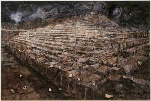 sfmoma:   Anselm Kiefer, Osiris und Isis (Osiris and Isis), 1985-1987; oil and acrylic emulsion with additional three-dimensional media  via ArtDaily.org This painting is now on view as part of Contemporary Painting, 1960 to the Present.