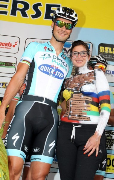 fuckyeahcycling:  (via FOTOSPECIAL. Topless Gaëlle kust Boonen, Gilbert en De Gendt - Sportwereld)  I have no idea what the context of this photo is, and I'm not really sure I even care.