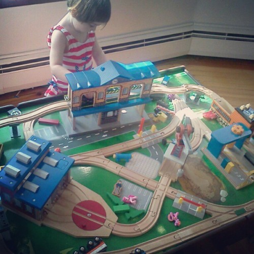 my little train lover. (Taken with instagram)