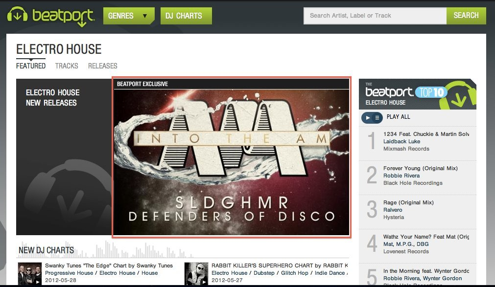 I think beatport is a piece of shit but they seem to like us enough to feature us