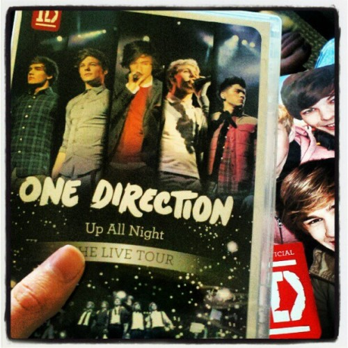 We're def not watching the One Direction concert DVD that came out today. Nope, not us. (Taken with instagram)