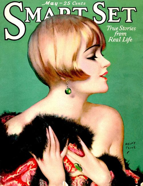 whataboutbobbed:  Henry Clive cover art for the May 1926 issue of Smart Set