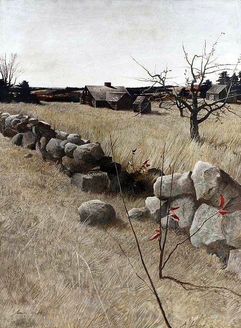 wasbella102:  The Stone Fence by Andrew Wyeth.