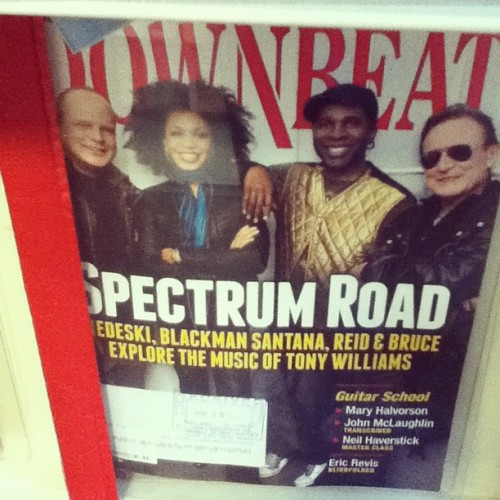 I've only ever see copies of Downbeat in libraries. Miles Davis referenced all the time in his biog. #jazz (Taken with instagram)