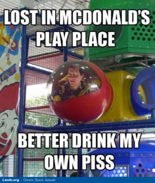 lawlzorg:  Lost in McDonald's Play Place