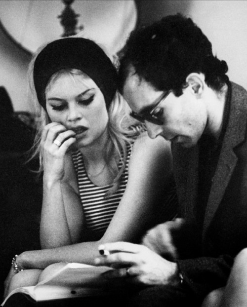tarkowski:  Brigitte Bardot & Jean Luc Godard on the set of Contempt