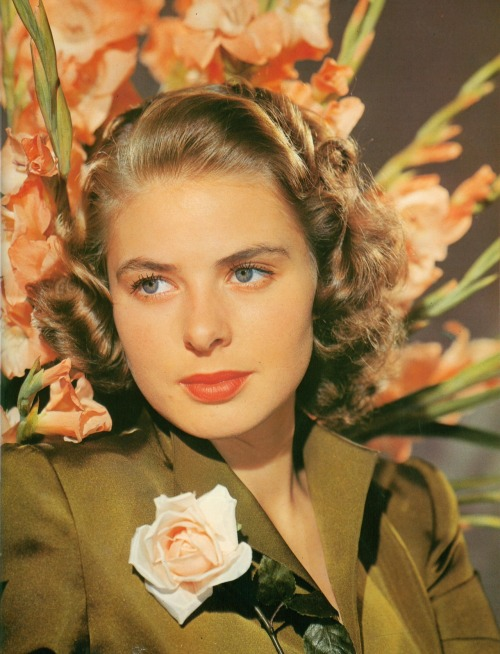 updownsmilefrown:  Ingrid Bergman, 1942 by Scotty Welbourne