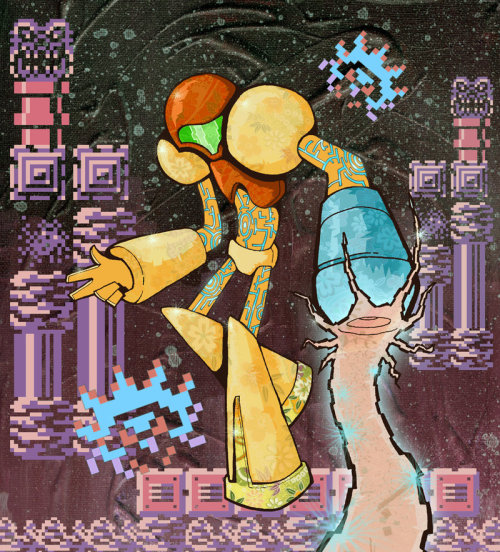 Samus by Rob Hague Via: videogamenostalgia