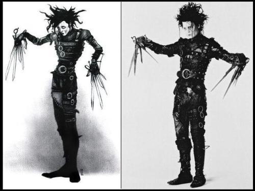 winonawriter:  Tim Burton's original sketch of Edward Scissorhands