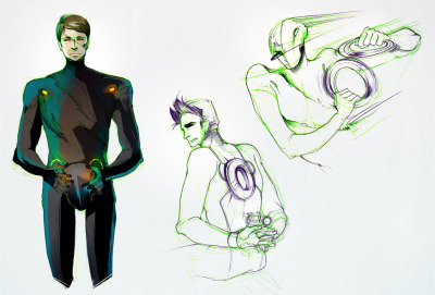 Trying to get a feel for Tron Uprising's Tron-Rinzler and Beck. (Without references, mm yes. Good job Hark.) And excuse me while I trip all over my feet trying to swoon over Boxleitner's voice. That man.