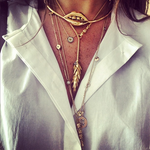 themanrepeller:  Gold chains ftw. (Taken with instagram)