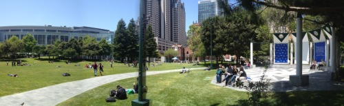 Lunchtime at Yerba Buena Gardens