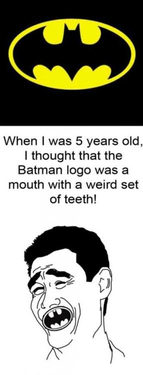 Batman logo is really weird