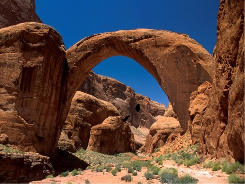 travel-the-earth:  Rainbow Bridge, Lake Powell, Utah.