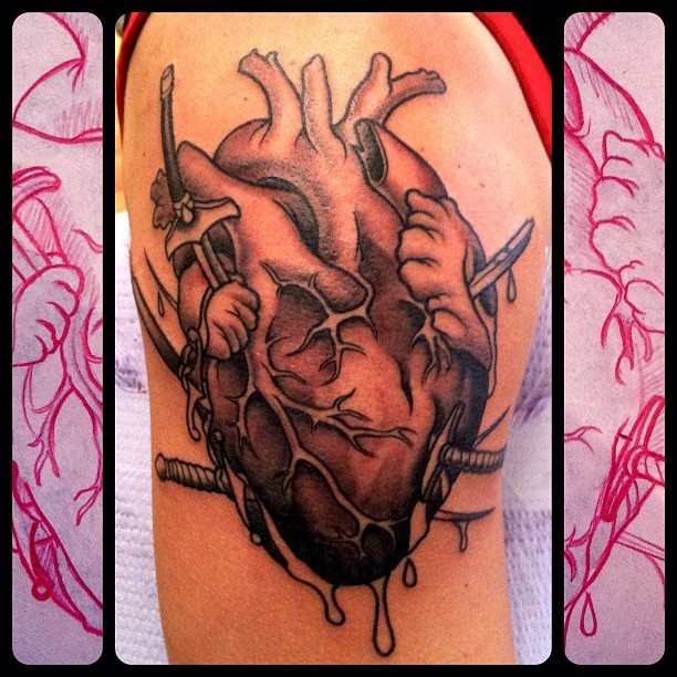 heart/swords. mike moses www.thedrowntown.com (Taken with instagram)
