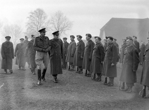 Home Guard line -up in Sutton Park in December 1940.