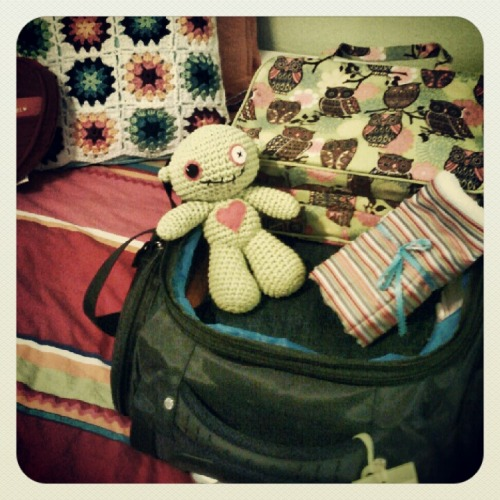 Zombie is ready for vacation!  Stay tuned for some fun photos!