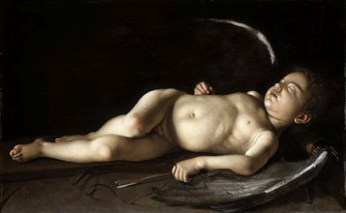 ville-rose:  CARAVAGGIO-Sleeping-Cupid-1596-Indianapolis-Museum-of-Art
