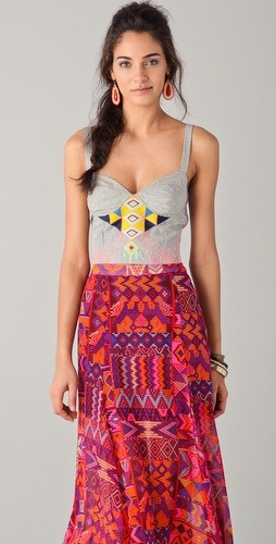 Beautifully embroidered bustier by Mara Hoffman
