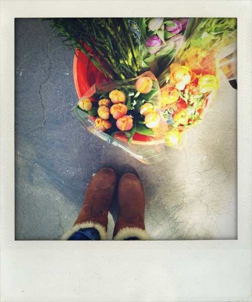 "We all loved Thayer's boots and the beautiful orange flowers on the shoot for our ""Color-Themed Party!"" —Mackenize Craig, Associate Photo Editor"