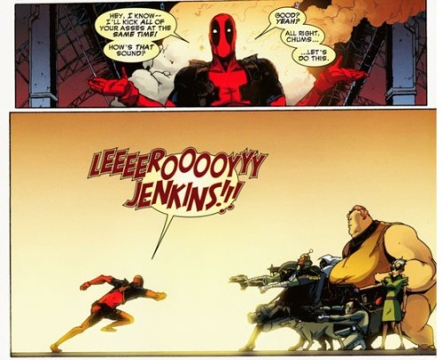 I laughed so hard at this.  Deadpool is insane.