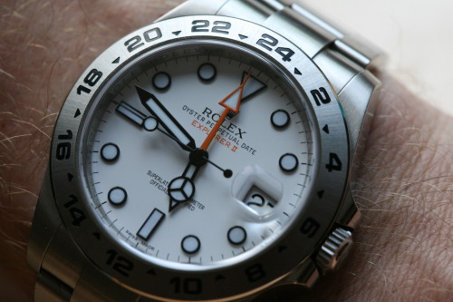 We Love That #Rolex Orange Hand - #Explore