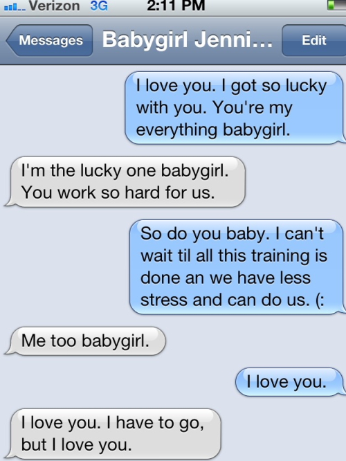 She loves me. (:  I'm beyond lucky.