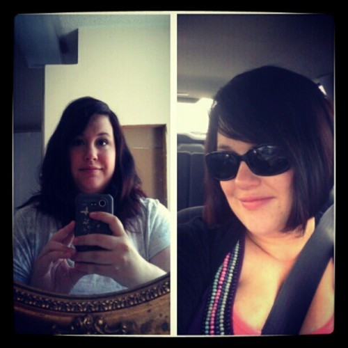 Haircut, before and after (Taken with instagram)