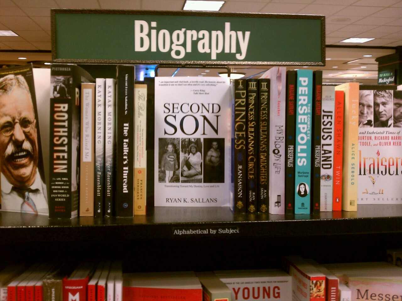 ryansallans:  Seeing a book written by me on the shelves of a Barnes & Noble was something I used to only dream about. Just like transitioning, if you put your passion toward something, and open yourself up to a lot of unknowns, things can happen.