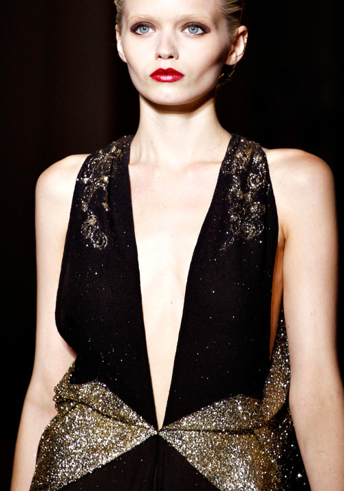 Abbey Lee Kershaw @ Next Model Management  Yves Saint Laurent, SS 2012 RTW