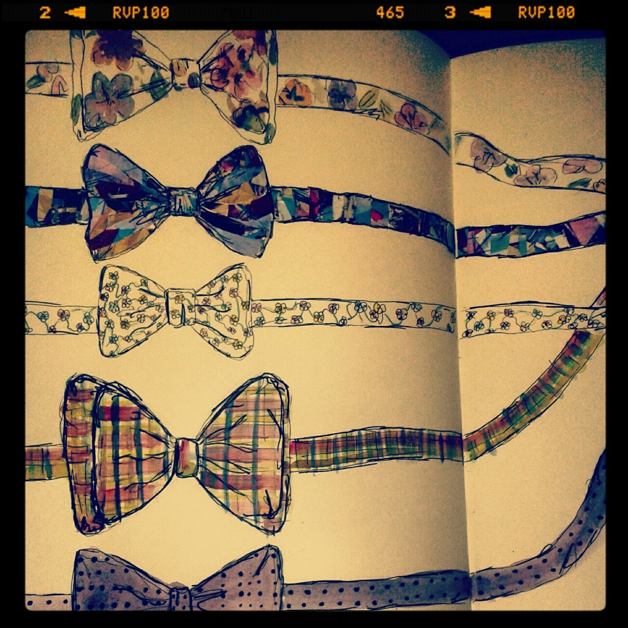 Bow ties. Illustration by Kim Boothroyd