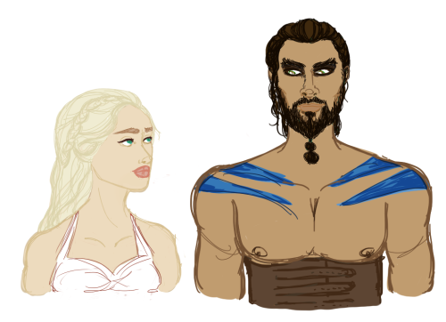 Daenerys Targaryen and Khal-Drogo because. just because. I miss him so much, they were and still are one of my faves