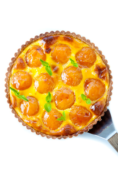 Apricot, Cardamom and Orange Blossom Tart with recipe (link)