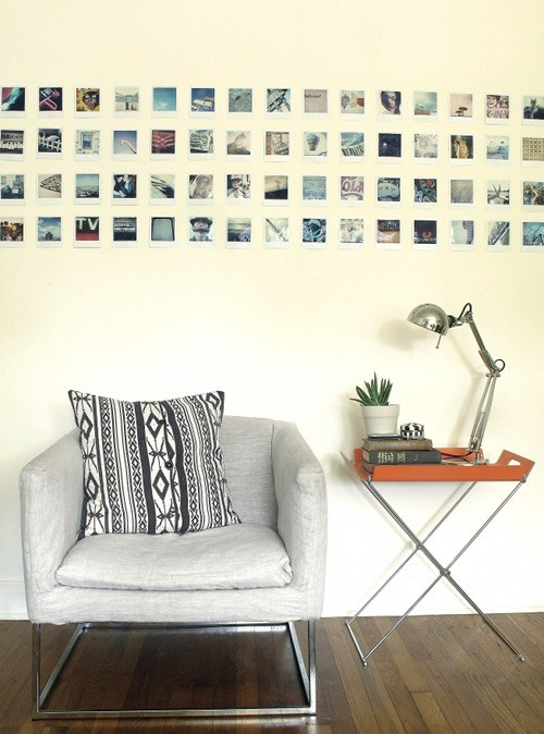 Source: Design*Sponge Nice little reading spot. I love the idea of putting polaroids up in place of bigger art.