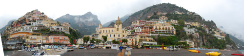 Another panoramic. Taken from the beach of Positano, so beautiful!