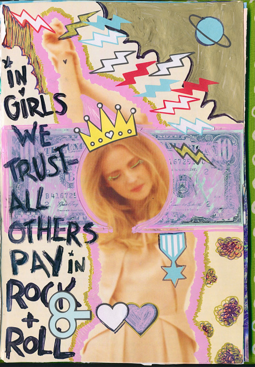 In girls we trust, all others pay rock n roll.