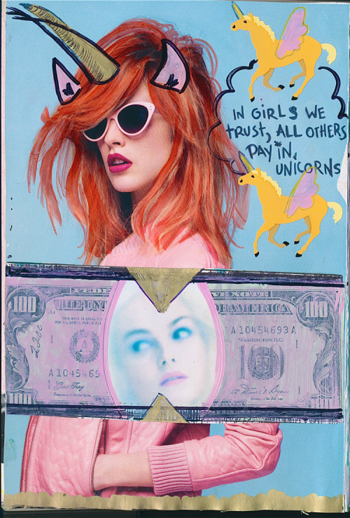 In girls we trust, all others pay unicorns.