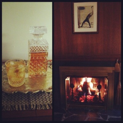 first whiskey, first fire in the new house (Taken with instagram)