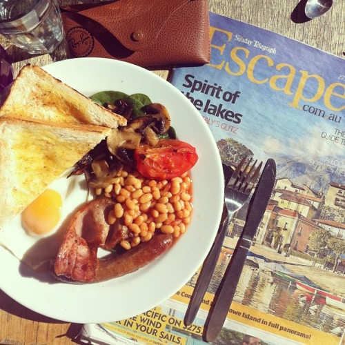 Big breakfast with even bigger travel plans  (Taken with instagram)