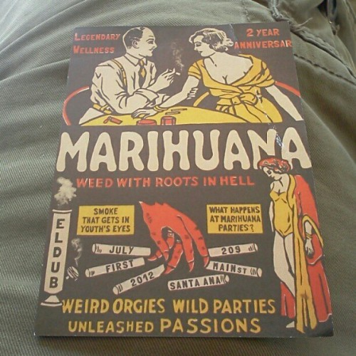 Looks all vintage found this flyer blowin in the wind #MMJ #LegendaryWellness  (Taken with Instagram at Orange Ave.)