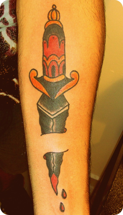 Dagger Tattoo  *By Alexandre Lasevicius*