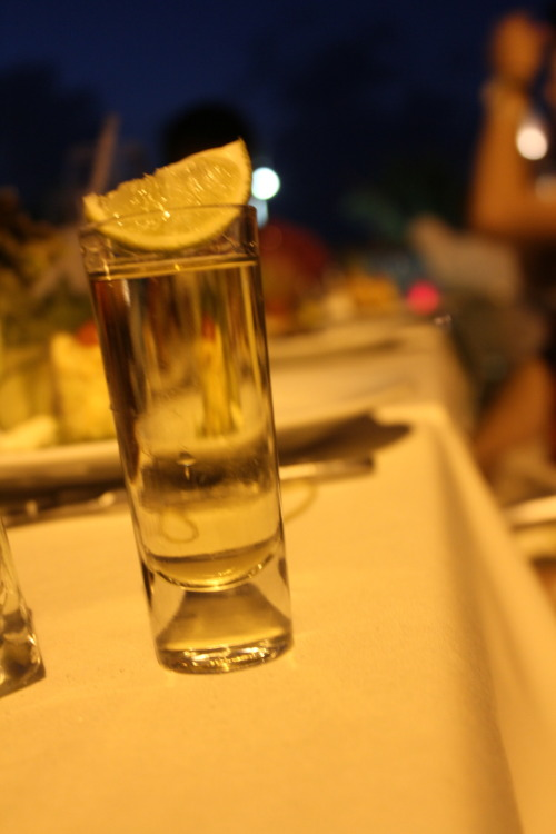 double shot of tequila. cancun!
