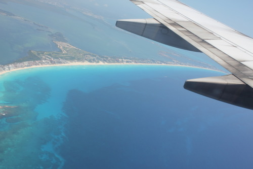 taking off from cancun. that was one sad sad sad day :((( :'(