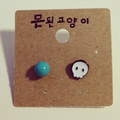 Adorable ear studs from @chin_lay 💙 (Taken with instagram)